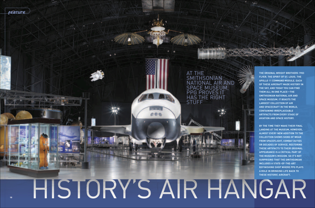 """History's Air Hangar"" Smithsonian Air and Space Museum Repair Shop"