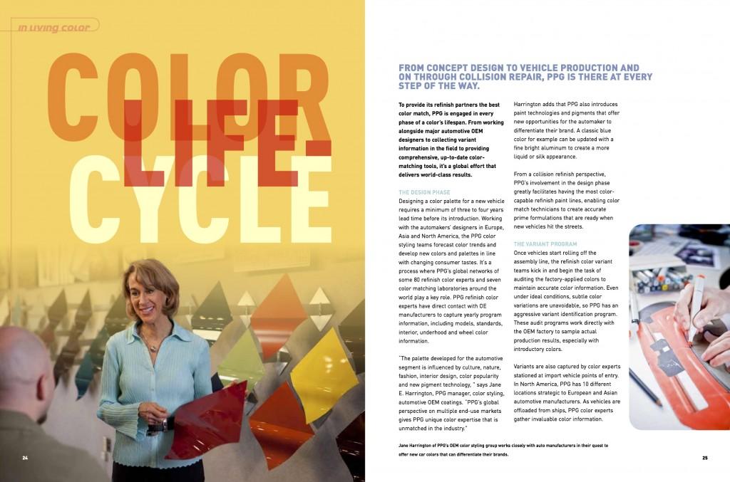 """Color Lifecycle"" PPG Refinish Color Development Program"