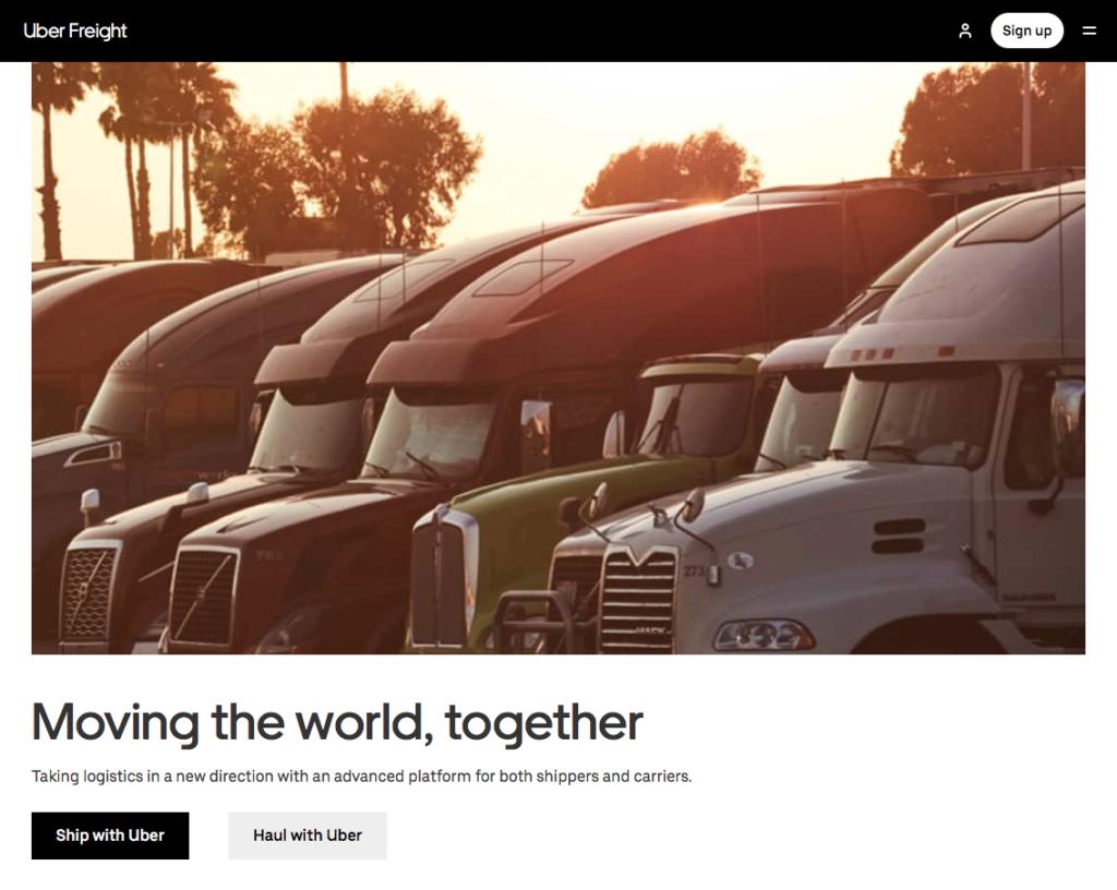 Uber Freight website