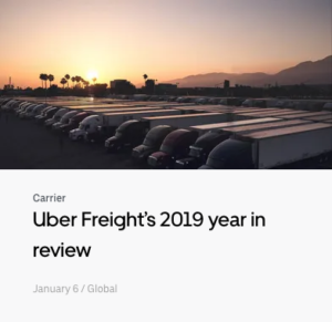 Uber Freight's 2019 Year in Review (blog post)
